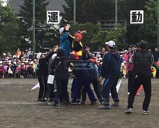 運動会といえば騎馬戦の写真・画像素材[2111149]