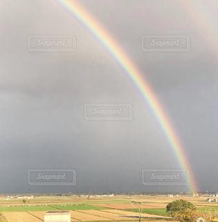 北海道、当別町の虹の写真・画像素材[2613247]