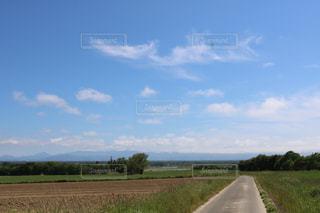 北海道石狩郡の大きな空、快晴。の写真・画像素材[3298343]