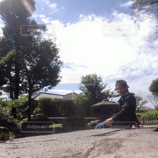 鹿児島にある仙巌園での一枚。の写真・画像素材[1688503]