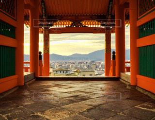 清水寺から覗く市街の写真・画像素材[1690378]