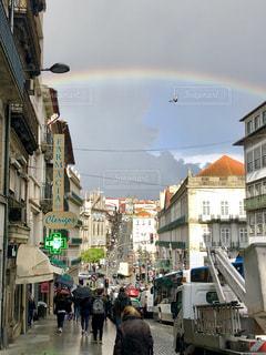 空,夏,雨,虹,アート,季節,レインボー,鳩,梅雨,ポルトガル,天気,雨雲,空模様,雨空