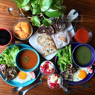 スープのある朝ごはんの写真・画像素材[268061]