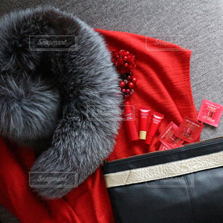 赤のドレスとアスタリフトの写真・画像素材[774071]