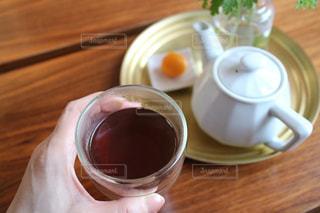 ほうじ茶でおうちカフェの写真・画像素材[1056739]