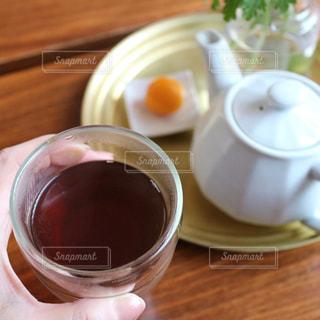 ほうじ茶でおうちカフェの写真・画像素材[1056740]