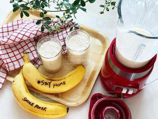 食べ物,ジュース,ドリンク,ミキサー,バナナ,バナナジュース,ステイホーム,Stayhome