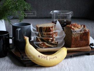 食べ物,ケーキ,デザート,おいしい,バナナ,手作りおやつ,バナナブレッド,ステイホーム,stay  home