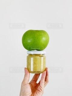 ブラムリーアップルのジャムの写真・画像素材[3670478]