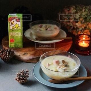 食べ物,スープ,料理,豆乳,クラムチャウダー,豆乳スープ