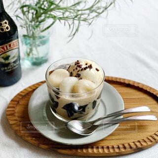 デザート,おやつ,アイスクリーム,おうちカフェ,手作り,コーヒーゼリー,白玉団子,ベイリーズ