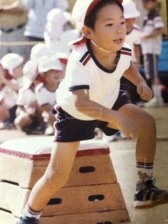 スポーツ,人物,少年,運動会,息子,幼稚園,かけっこ,障害物競走