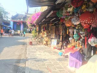 ランタン,お店,昼,ベトナム,東南アジア,ホイアン,街中,海外旅行