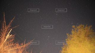 元旦の星空をパシャりの写真・画像素材[1698266]