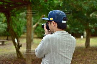 公園,カメラ,後ろ姿,背中
