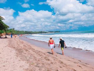 海,海外,ビーチ,雲,青空,晴天,砂浜,散歩,ブルー,リゾート,インドネシア,バリ