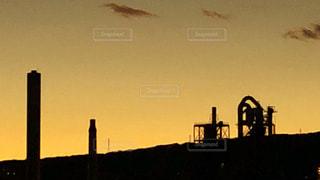 町のシルエットの写真・画像素材[1700130]
