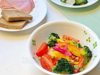 低糖質な朝食の写真・画像素材[2487477]
