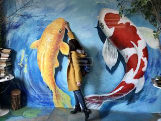 海外,カラフル,楽しい,オシャレ,韓国,鯉,リュックサック,壁画村,色かぶり