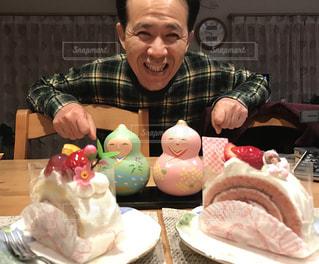 ケーキ,デザート,ひなまつり,夫,雛ケーキ