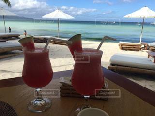 海,屋外,ビーチ,水面,フルーツ,果物,旅行,海外旅行