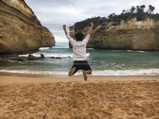 男性,秋,ビーチ,オーストラリア,休暇,30歳代