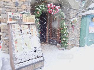 雪に覆われた建物の写真・画像素材[1732069]