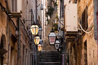 風景,建物,階段,世界遺産,ヨーロッパ,観光,旅行,アイス,店,海外旅行,クロアチア,日中,城壁,フォトジェニック,ドブロブニク,城壁都市