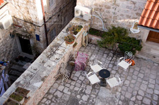 風景,建物,世界遺産,ヨーロッパ,観光,椅子,机,旅行,海外旅行,クロアチア,日中,城壁,フォトジェニック,ドブロブニク,城壁都市