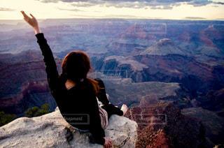 風景,空,公園,建物,夕日,夕暮れ,夕方,世界遺産,アメリカ,山,景色,観光,大自然,岩,人,旅行,海外旅行,渓谷,日中,フォトジェニック