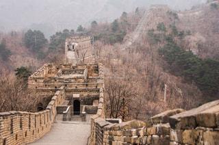 建物,冬,海外,世界遺産,山,景色,観光,中国,海外旅行,北京,万里の長城,日中,フォトジェニック