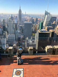 男性,ニューヨーク,メンズ,海外,男,男子,展望台,マンハッタン,New York,NYC,エンパイアステート,トップオブザロック,Top of the Rock,Manhattan,English,解放感,Empire State Building