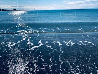 穏やかな冬の逗子海岸の写真・画像素材[1704661]