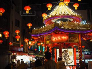 夜の南京町の写真・画像素材[1706815]