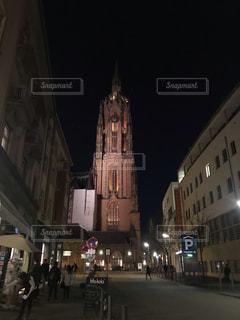 夜景,海外,綺麗,旅行,教会,ドイツ,海外旅行,フランクフルト