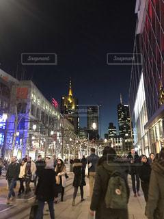 夜,夜景,街並み,海外,綺麗,旅行,ドイツ,海外旅行,フランクフルト
