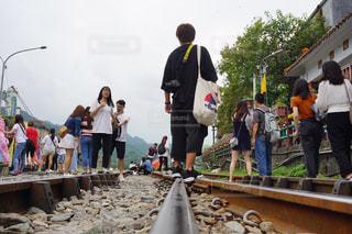 線路,旅行,灯篭,台湾,ストリート,十分