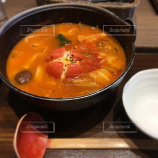 トマトほうとう鍋の写真・画像素材[1758480]