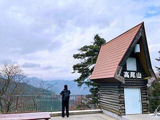 男性,後ろ姿,旅行,山頂,展望台,高尾山,散策