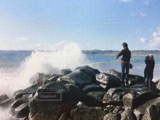 海,サーフィン,波,岩,ニュージーランド