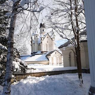 雪化粧された教会の写真・画像素材[1732369]