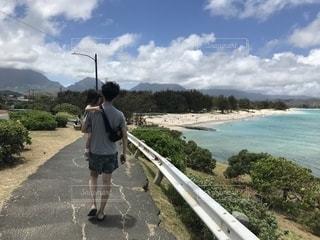 海,夏,カメラ,屋外,子供,人,旅行,ハワイ