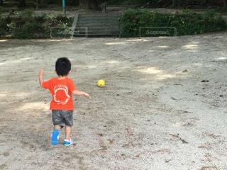 公園,サッカー,少年