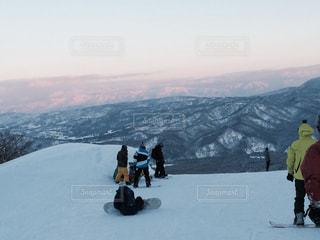 夕日,雪,山,景色,スキー,スノボ,青春,スキー場,スノーボード,ウィンタースポーツ