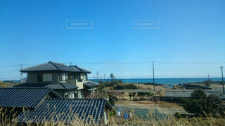 福島の車窓の写真・画像素材[1100257]