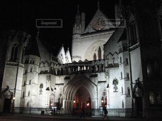 夜景,白,イギリス,ロンドン,ホワイト,英国,裁判所,正義,潔白,倫敦,ジャスティス