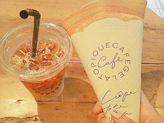 カフェ,コーヒー,茶色,オシャレ,cafe,カフェオレ,クレープ,一休み,ミルクティー色