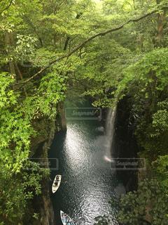 雨の高千穂峡の写真・画像素材[1027714]