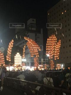 竿灯祭りの写真・画像素材[1045699]