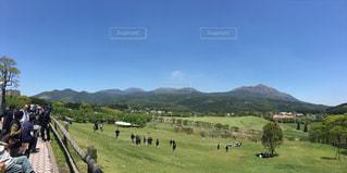 高千穂牧場から望む霧島連山。の写真・画像素材[1196537]